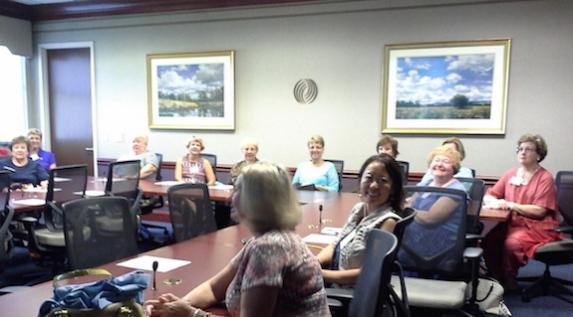 service-league-members-listen-to-presentation-on-vidant-cancer-center