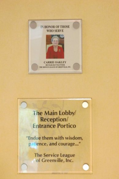 Carrie Oakley plaque
