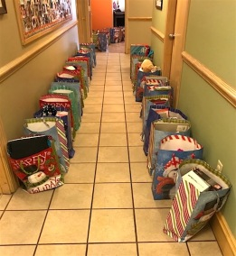 RMH Christmas bags for the kids