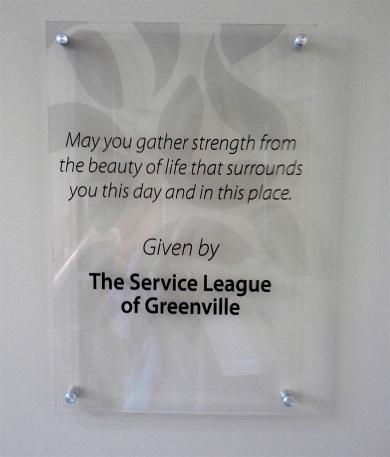 SLG garden plaque